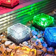 rgb schöne Wasser Quadrat Solarlampe Solar Eis führte Frost Glasstein Licht aufladbaren