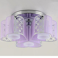 צמודי תקרה ,  מודרני / חדיש כרום מאפיין for LED מתכת חדר שינה חדר אוכל חדר עבודה / משרד חדר ילדים