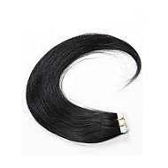 na venda # cabelo humano cabelo 16inch-24inch 1 fita na pele extensões de cabelo humano trama nenhum emaranhado sem galpão