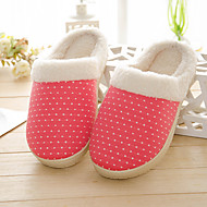 Women's Slippers & Flip-Flops Winter Slingback Cotton Casual Flat Heel Others Pink / Red / Fuchsia Others