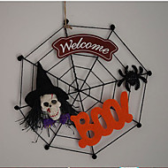heiß verzieren halloween Tür menschliches Skelett Hexe Muster Spinnennetz 13 * 13cm für Halloween-Cosplay hängende Tür