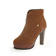 Women's Sneakers Spring / Fall Heels / Comfort Suede Casual Stiletto Heel Others Black / Brown Walking