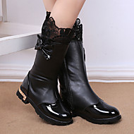 Girl's Boots Spring / Fall / Winter Snow Boots / Bootie / Comfort Leather Outdoor / Waterproof / Casual Low Heel Zipper