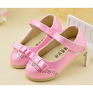 Girl's Flats Spring / Fall Closed Toe PU Low Heel Magic Tape Pink / White / Gold Others