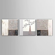 Stretched Frame Hand-Painted Abstract Oil Painting Thick Texture Wall Art Modern Home Office Decor 3 Panel Ready to Hang
