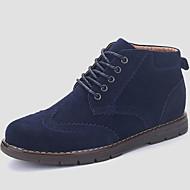 Kényelmes-Lapos-Női cipő-Csizmák-Alkalmi-Szövet-Kék Barna Zöld Kávé