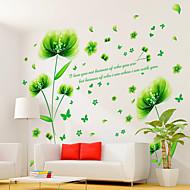 בוטניקה / רומנטיקה / דוממים מדבקות קיר מדבקות קיר מטוס / מדבקות קיר תלת מימד מדבקות קיר דקורטיביות,PVC חוֹמֶרניתן להסרה / ניתן למיקום