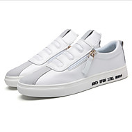 Men's Sneakers Fall / Winter Flats PU Casual Flat Heel Others Black / White Others