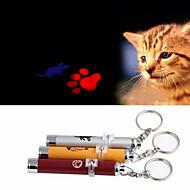 Kattelegetøj Hundelegetøj Kæledyrslegetøj Laser Legetøj Fodprint Mus Rød Blå Pink Gul Sølv Aluminium