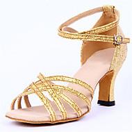 Dansesko(Sølv / Guld) -Kan ikke tilpasses-Chunky heels-Damer-Latin