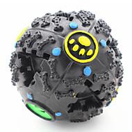 Zabawka dla kota Zabawka dla psa Zabawki dla zwierząt Owalne Zabawki do żucia Pisk Dozownik karmy Gumowy Black