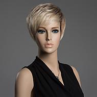 szép férfi frizura, rövid, egyenes szál felső paróka 100% emberi Remy haj