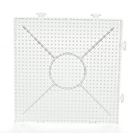 1db sablon tiszta általános összekapcsolható nagy pegboard 15 * 15 cm-es négyzet alakú 5mm hama gyöngyök Perler gyöngyök biztosíték gyöngyök