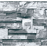 Art Deco / Anwendung / 3D / Ziegel Tapete Für Privatanwender Zeitgenössisch Wandverkleidung , PVC/Vinyl Stoff Klebstoff erforderlich