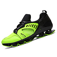 Γυναικεία παπούτσια-Αθλητικά Παπούτσια-Καθημερινό-Επίπεδο Τακούνι-Ανατομικό-PU-Πράσινο Ασημί Χρυσό