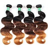4 darab Hullámos haj Emberi haj sző Brazil haj 400g 10-28inches Human Hair Extensions