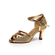 Customizable Women's Dance Shoes Paillette Paillette Latin / Salsa Sandals Stiletto HeelPractice / Beginner / Professional / Indoor /