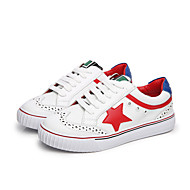 Women's Sneakers Fall Platform Leather Casual Platform Lace-up White Others