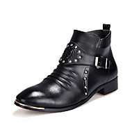 Men's Oxfords Fashion High Top Shoes Short Boots Casual Walking Shoes Low Heel Buckle / Slip-on