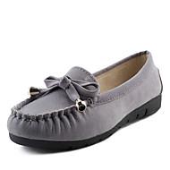 נשים-נעליים ללא שרוכים-דמוי עור-נוחות-שחור / צהוב / אפור / בורגונדי-קז'ואל-עקב שטוח