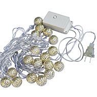 Jiawen 20-LED 5M warm white Christmas Holiday  Decoration  String Light (AC 110-220V)