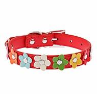 חתולים / כלבים קולרים חוזרמתכווננת / קוספליי / ריצה / ללא ידיים / יום יומי פרח Red / Black / כחול / ורוד / ורד PU עור