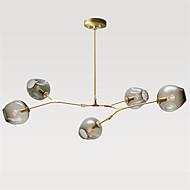 Norte da Europa lustre vintage 5 cabeças de vidro moléculas pingente luzes quarto luminária