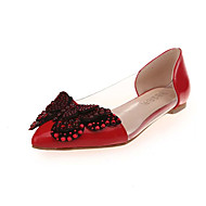 Γυναικεία παπούτσια-Χωρίς Τακούνι-Φόρεμα-Επίπεδο Τακούνι-Ανατομικό-PU-Μαύρο Ροζ Κόκκινο Γκρι