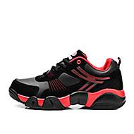 Unissex-Tênis-Conforto-Rasteiro-Azul Vermelho Branco-Pele-Casual