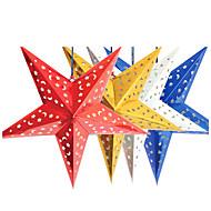 45cm karácsonyi lézerpapírt csillag karácsonyi dekoráció lóg összecsukható kézzel készített 3d pentagram karácsonyfadísz 4 színben