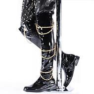 Masculino-Botas-Botas de Cowboy / Botas da Moda-Salto Grosso-Preto-Couro Envernizado-Casual / Festas & Noite