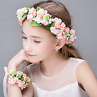 Women's Polyester Basketwork Organza Resin Headpiece-Wedding Special Occasion Casual Office & Career OutdoorTiaras Headbands Flowers Hair