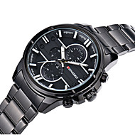 LONGBO Men's Alloy Band Black / Gold Brand Quartz Water Resistant Sports Dress Watch
