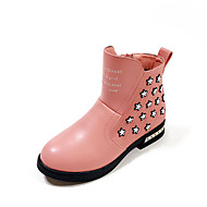 Boty-PU-Pohodlné-Dívčí-Černá Růžová Červená-Šaty Běžné-Plochá podrážka