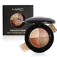 4 Paleta de Sombras Secos / Mineral Paleta da sombra Pó Normal Maquiagem para o Dia A Dia