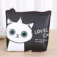 karikatür kedi deseni pu deri değiştirme çanta