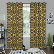 Jeden panel Window Léčba Designové , Geometrické tvary Obývací pokoj Polyester Materiál záclony závěsy Home dekorace For Okno
