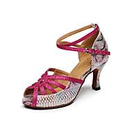 Obyčejné-Dámské-Taneční boty-Latina-Kůže-Kačenka-Růžová