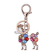 Europe And The United States New Realistic Guitar Key Chain Poodle Key Chain Bag Car Key Pendant Valentine's Day Gift Factory Direct Sales