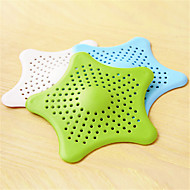 Bathroom Hair Filter Starfish Floor Drain Kitchen Sink Bathtub Sewer Hair Stopper (Random Colours)