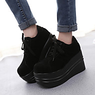 Women's Oxfords Spring Summer Fall Creepers Suede Casual Platform Lace-up Black Others