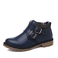 לבנים-נעלי אוקספורד-PU-נוחות-שחור / כחול / חום-קז'ואל-עקב שטוח