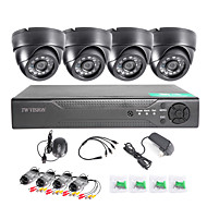 twvision® 8-kanaals HDMI-960H cctv dvr video surveillance recorder 1000tvl dome-camera's CCTV-systeem