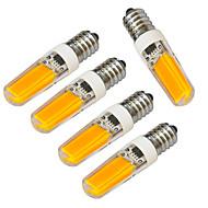 4W E14 LED svíčky 1 COB 320-400 lm Teplá bílá / Chladná bílá Ozdobné V 5 ks