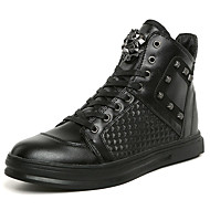 Men's Boots Spring / Summer / Fall / Winter Comfort / Novelty PU Office & Career / Casual Flat Heel Lace-up Black / Red / White Others