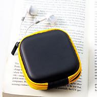 seyahat deri malzeme kulaklık cüzdanlar (rastgele renk) değiştirmek
