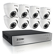 ZOSI®HD 8CH 720P DVR 8PCS 1.0MP Weatherproof Outdoor Home Security Camera Surveillance Kits