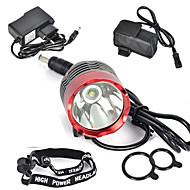 תאורה פנסי ראש / פנסי אופניים / פנס קדמי לאופניים LED 3000 Lumens 1 מצב Cree XM-L T6 18650 קל במיוחדמחנאות/צעידות/טיולי מערות / ציד /