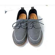 נשים-נעלי אוקספורד-PU-נוחות-אפור / קפה-קז'ואל-עקב שטוח