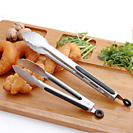 Food tongs 2PCS רב שימושי / גריפ נוח / איכות מעולה / איכות גבוהה / Creative מטבח גאדג'ט מלחציים פלדת על חלדאיכות מעולה / איכות גבוהה /